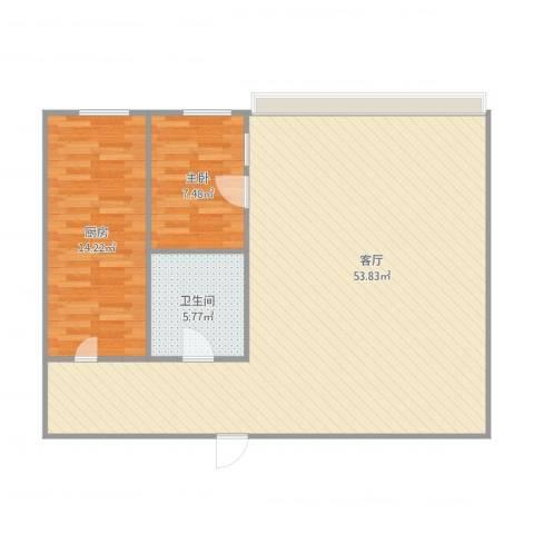 中润世纪城1室1厅1卫1厨107.00㎡户型图