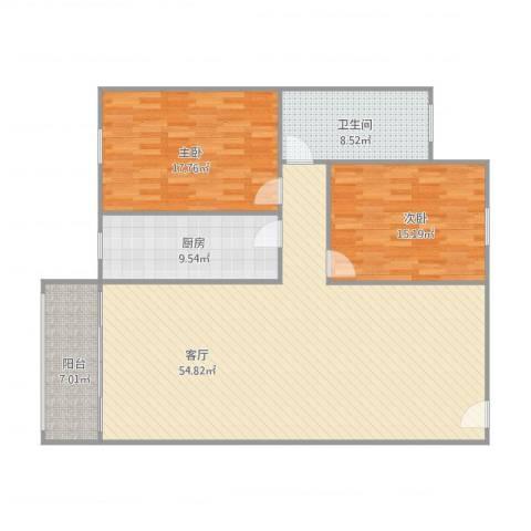 米兰雅居803房2室1厅1卫1厨149.00㎡户型图