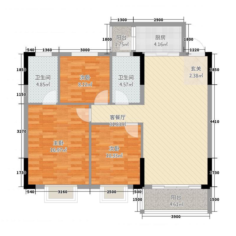 福兴家园22.20㎡2#楼2单元03、05户型