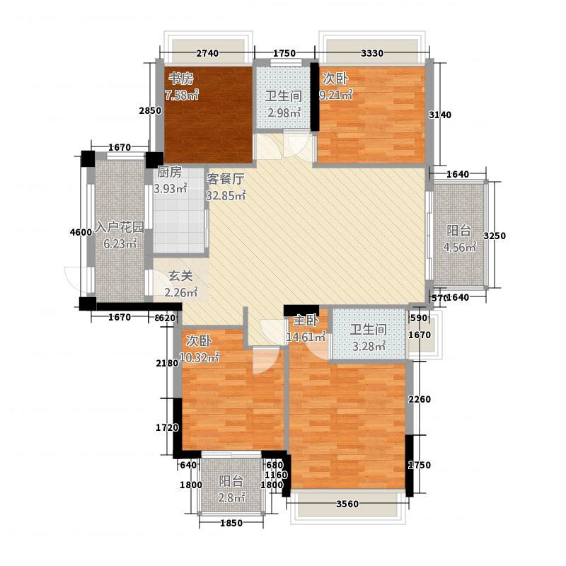 高佳・西城国际24137.20㎡C户型4室2厅2卫1厨