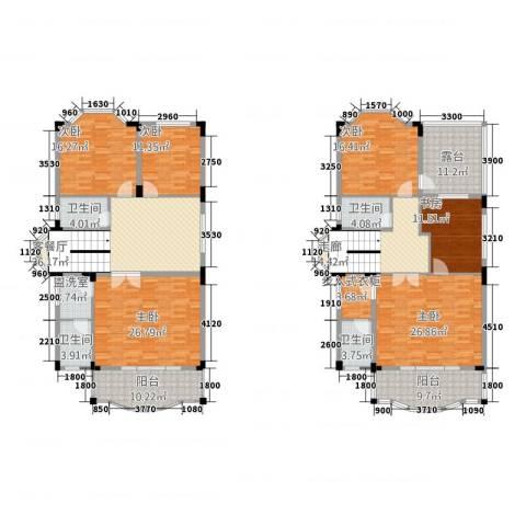 山泉三十六府6室2厅4卫0厨285.00㎡户型图