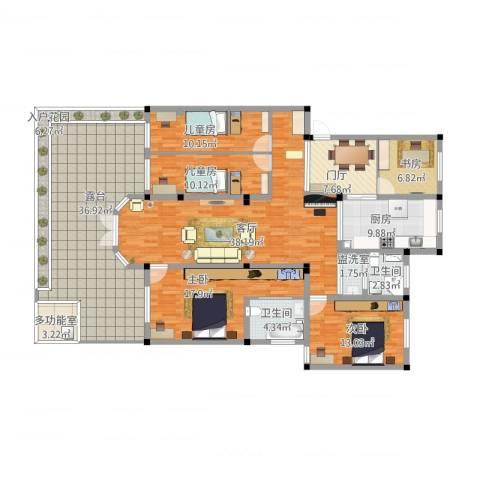 金汇名人苑5室2厅2卫1厨241.00㎡户型图