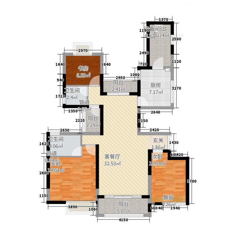 荆州万达广场43135.20㎡户型3室2厅2卫1厨