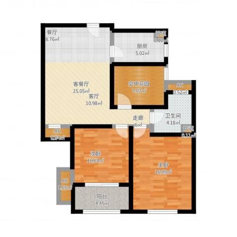 中奥珑郡2室1厅1卫1厨111.00㎡户型图