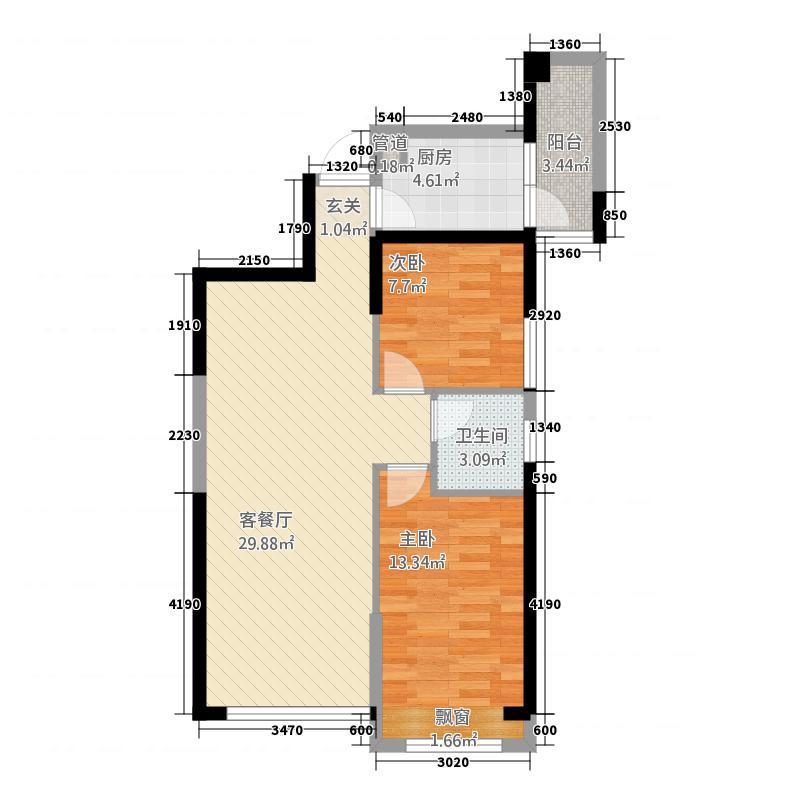 御龙首府686.20㎡(6)户型2室2厅1卫1厨