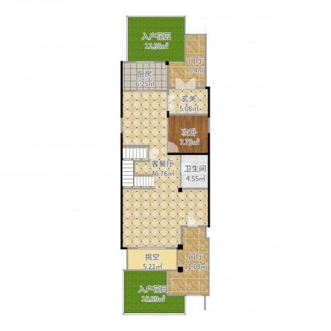 亿城燕西华府-联排-首层1室1厅1卫1厨158.00㎡户型图