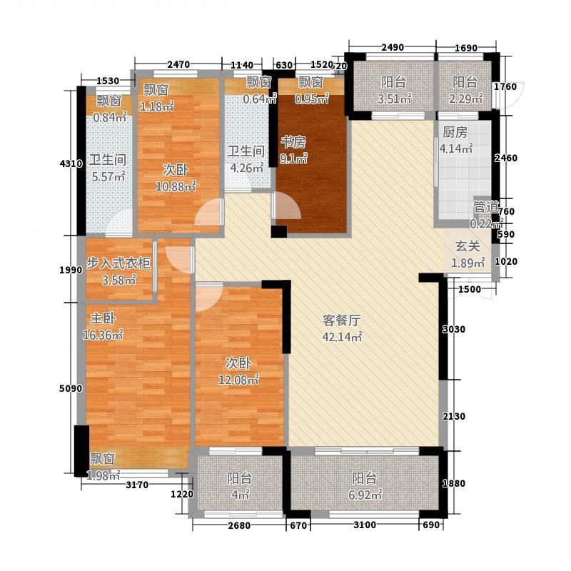 御龙首府4177.20㎡(4)户型4室2厅2卫1厨