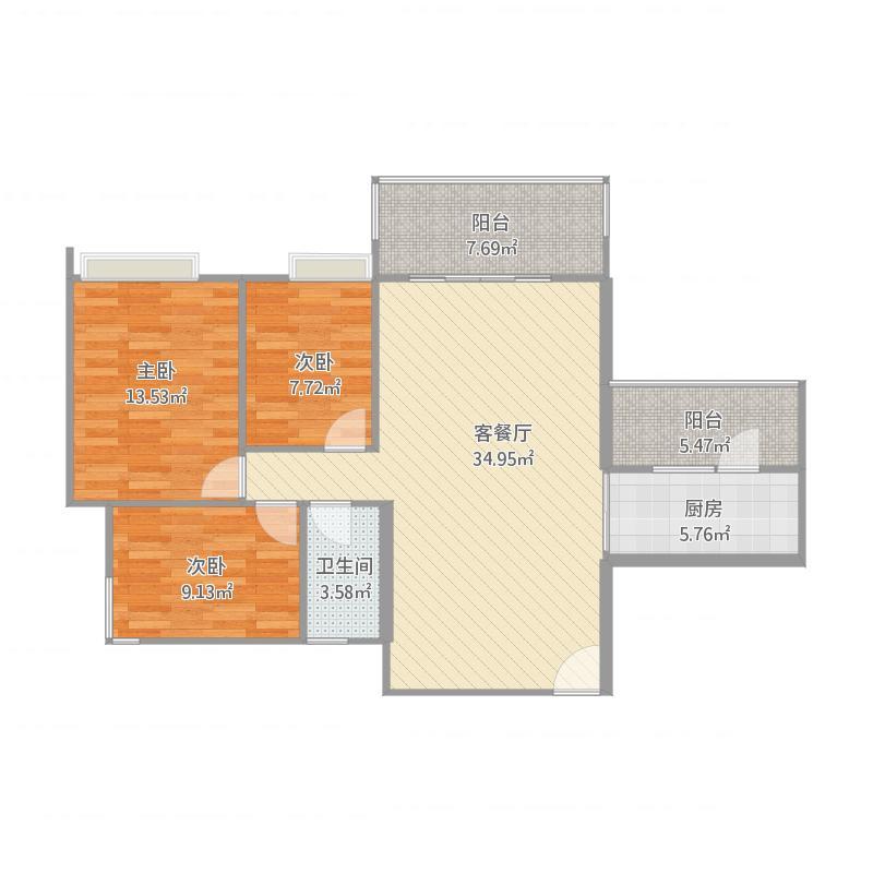 祥隆花园5#1单元04、05号房3房2厅2卫