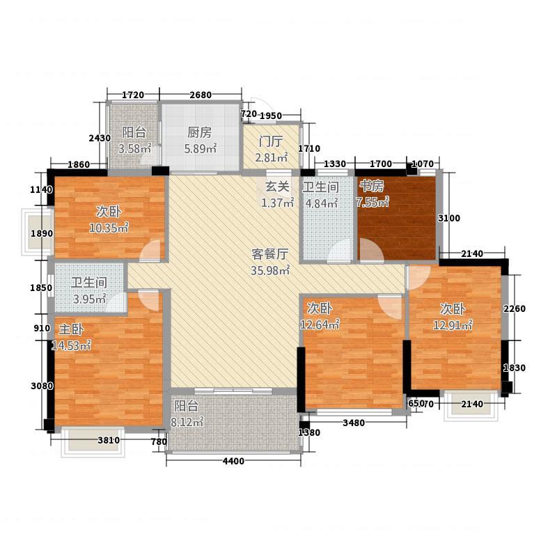 天誉花园0913-5号地块C2户型