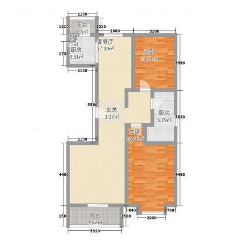 盘古新天地阳光花园2室1厅0卫2厨118.00㎡户型图