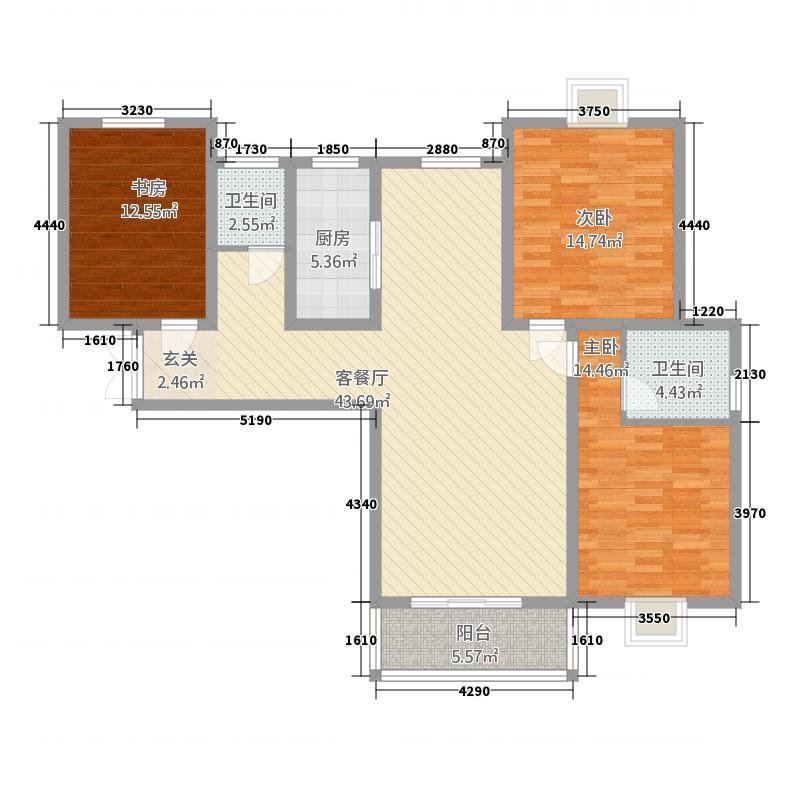 同晟国际147.00㎡2户型3室2厅2卫