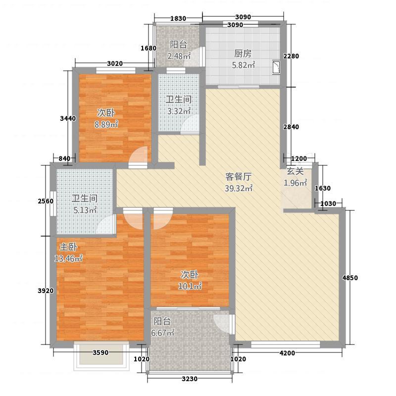 西班牙小镇127.00㎡品质-户型3室2厅2卫1厨