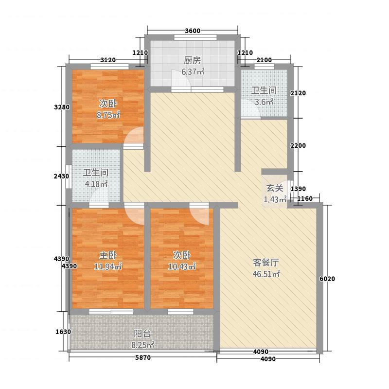 瑞特家园143.24㎡户型