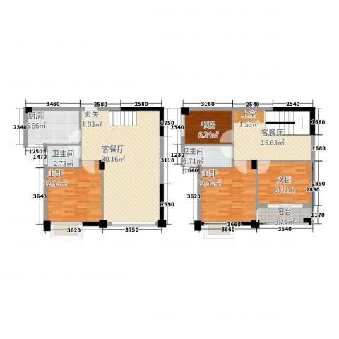 帝豪时代广场4室2厅2卫1厨102.32㎡户型图