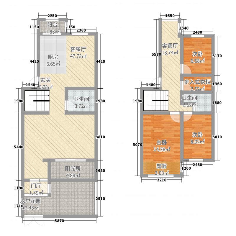逸和园175.80㎡1758户型3室3厅2卫1厨