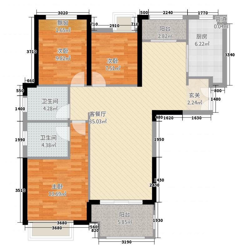 正弘中央公园二期5号地4号楼5号楼C1户型