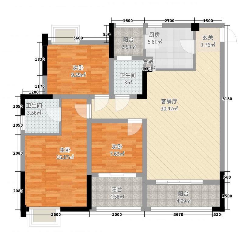 川三・滨岛花园136015_324516户型3室2厅2卫