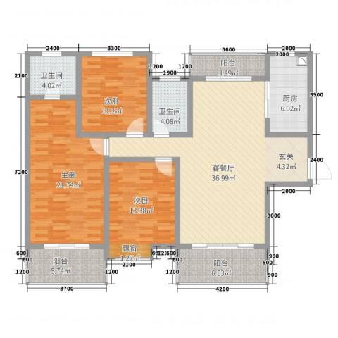 逸境・新城3室1厅2卫1厨149.00㎡户型图