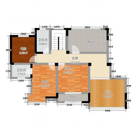 金都名苑3室0厅2卫0厨268.00㎡户型图