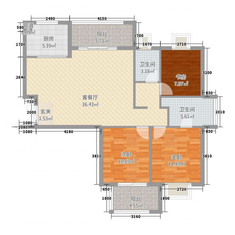 正祥水榭芳庭118.00㎡户型3室