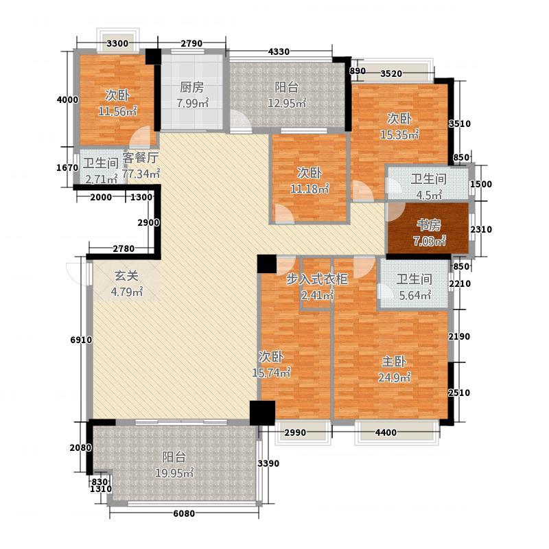 国际商品城三期尚东一品北区6栋04单元、7栋01单元户型6室2厅3卫1厨