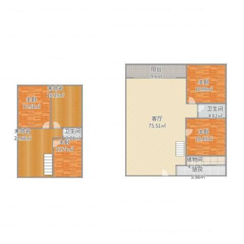 望潮家园4室1厅2卫1厨278.00㎡户型图