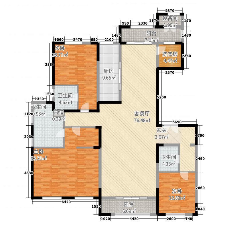 西山-九郡3241.72㎡户型3室2厅3卫