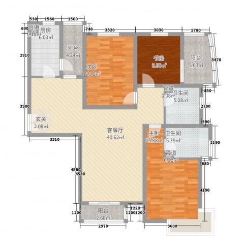 水云间3室1厅2卫1厨157.00㎡户型图