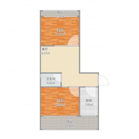 广悦里2室1厅1卫1厨112.00㎡户型图
