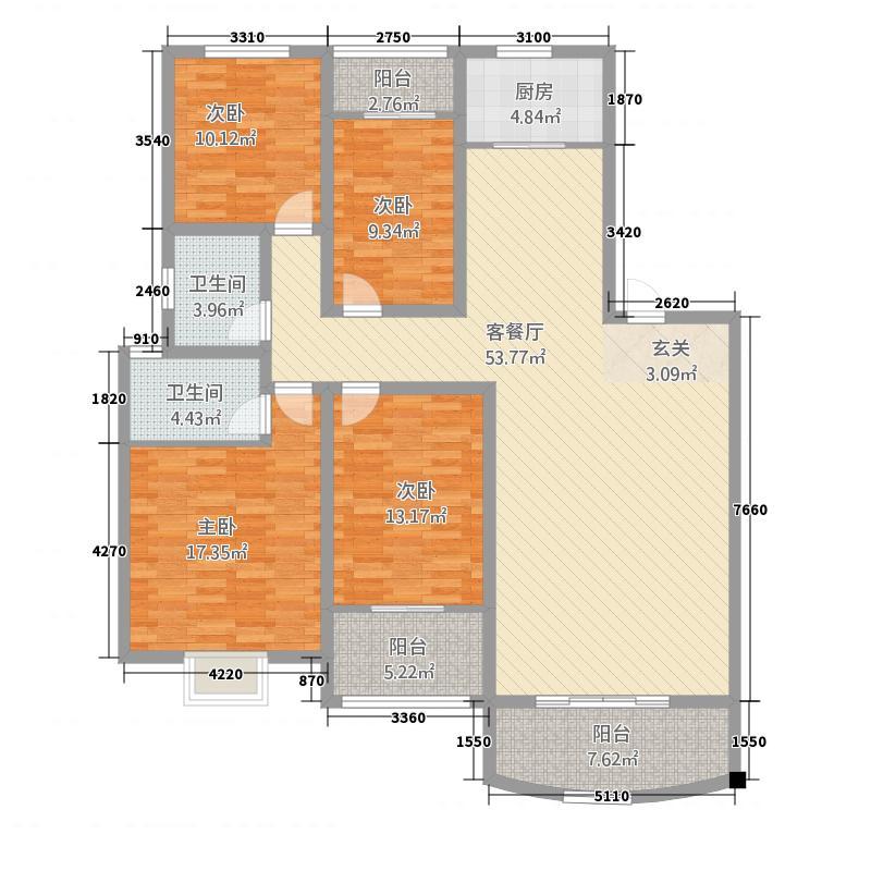 机场蓝天小区4jpg户型4室2厅2卫1厨