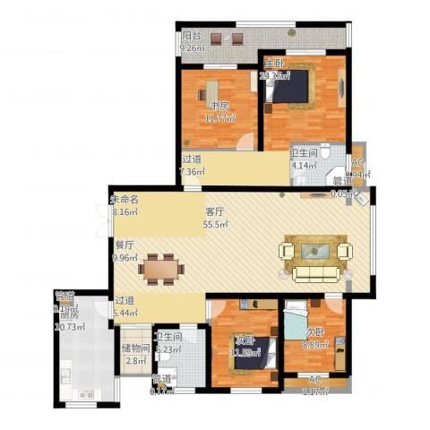 长江越领杨刚舅4室1厅7卫1厨205.00㎡户型图