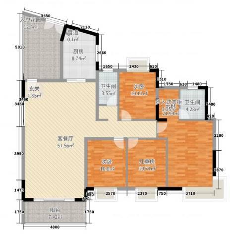 滨江新外滩4室1厅2卫1厨197.00㎡户型图
