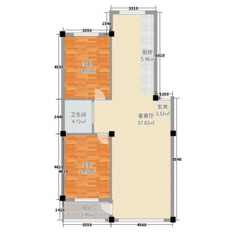 金城・水清源2室1厅1卫0厨117.00㎡户型图