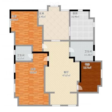 御景水城3室1厅2卫1厨254.00㎡户型图