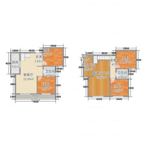 旺力城4室1厅2卫1厨152.00㎡户型图