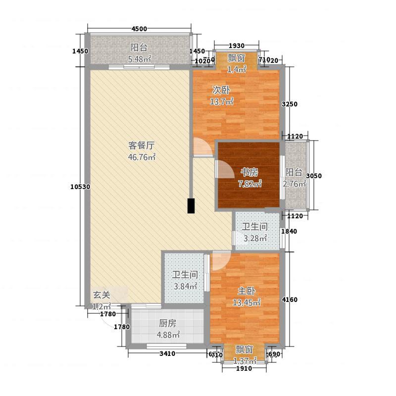 世纪星城・欣欣园12.11㎡8#&9#楼D户型3室2厅2卫1厨