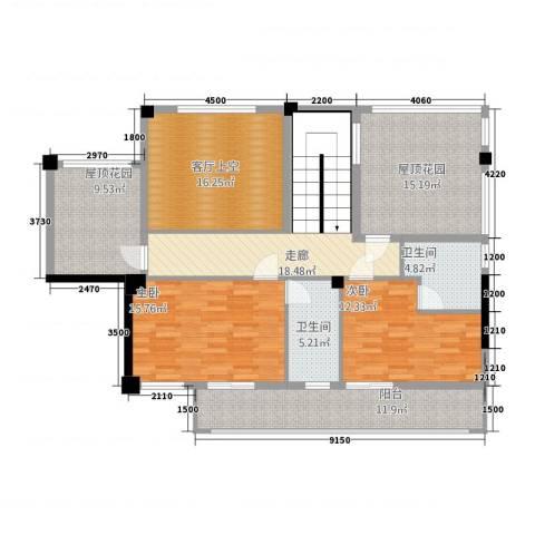 金碧华庭2室0厅2卫0厨123.71㎡户型图