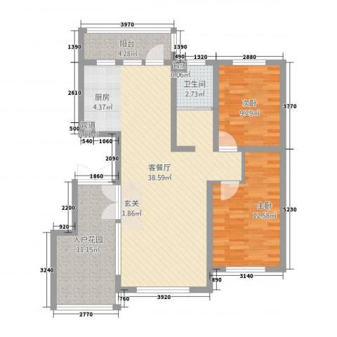 誉�华府2室1厅1卫0厨113.00㎡户型图