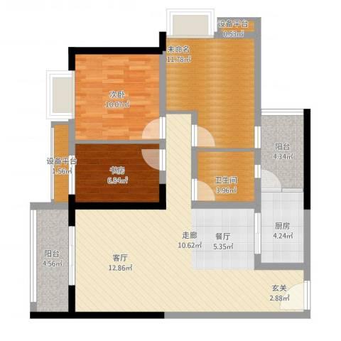 学林佳苑2室1厅1卫1厨116.00㎡户型图