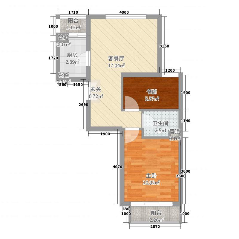 永外正街医院宿舍61.00㎡永外正街按摩医院宿舍户型2室