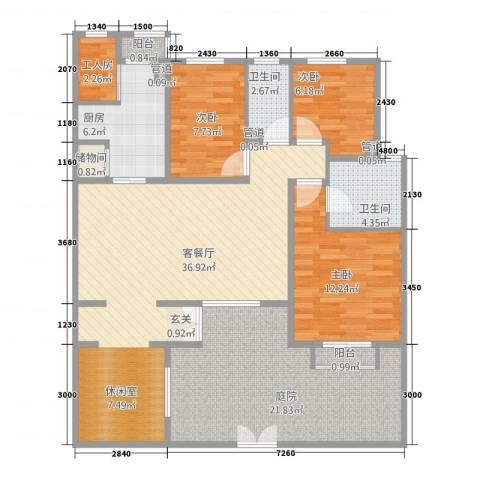 顺驰美兰3室1厅2卫1厨116.00㎡户型图