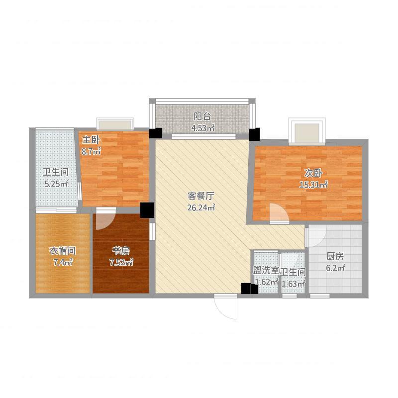 株洲_中央商业广场二单元D0805_2015-10-24-1544