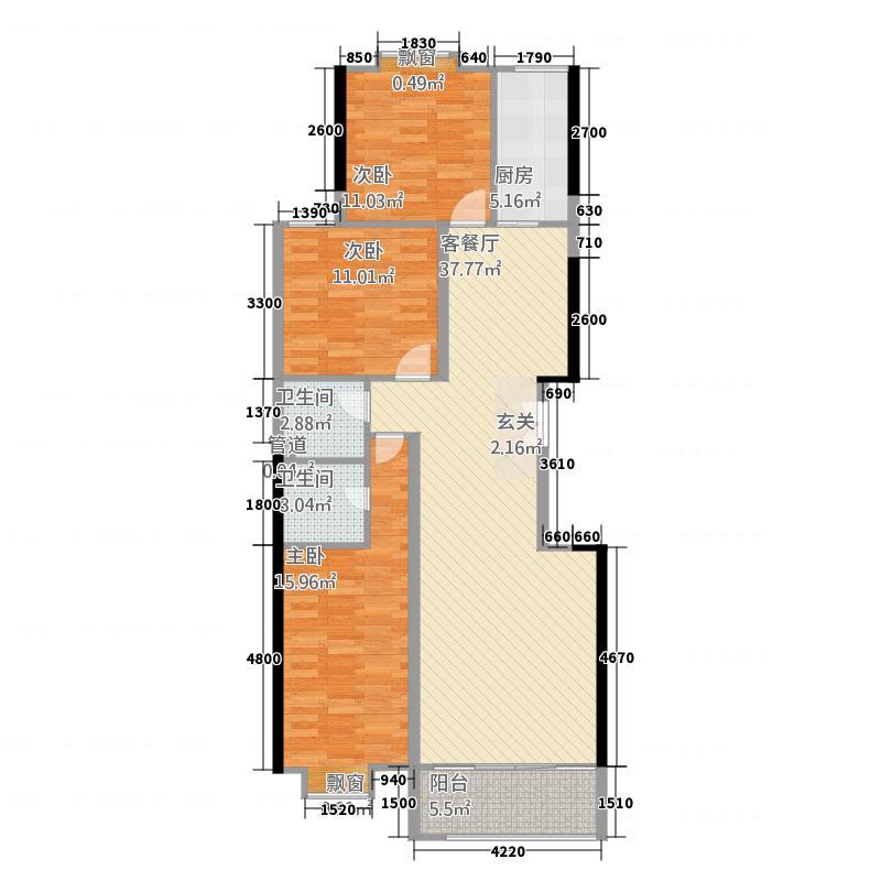 新宁园47户型3室2厅2卫1厨