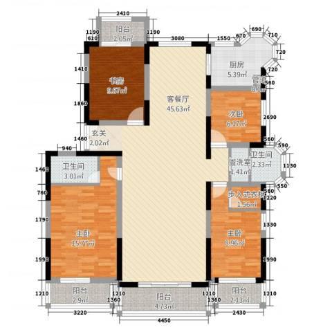 上河墅4室2厅2卫1厨163.00㎡户型图