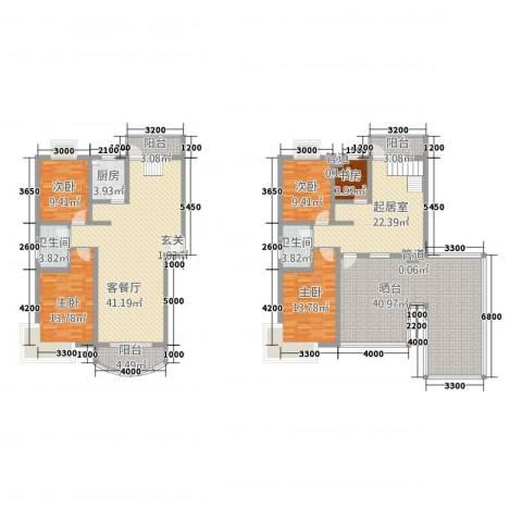 金色水岸花园5室1厅2卫1厨177.27㎡户型图