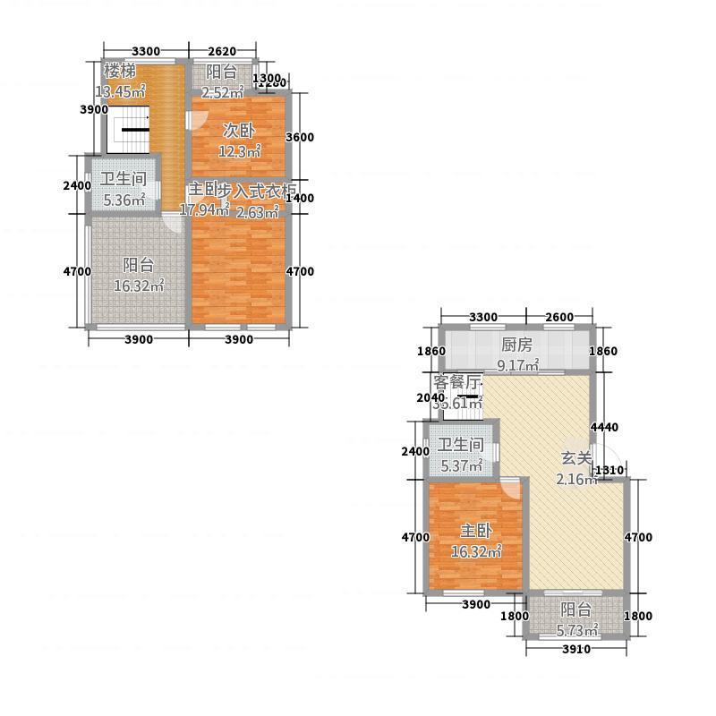 润泽雅苑156.30㎡户型3室3厅2卫1厨