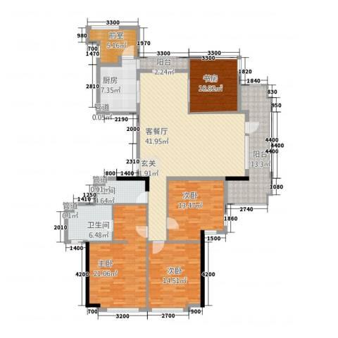 古民居商业文化广场4室1厅2卫1厨198.00㎡户型图