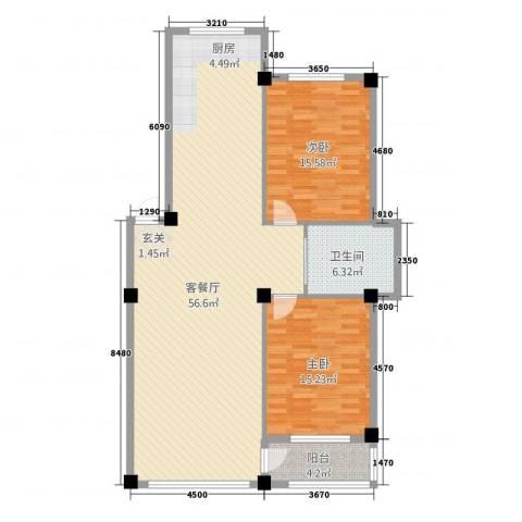 金城・水清源2室1厅1卫0厨97.94㎡户型图