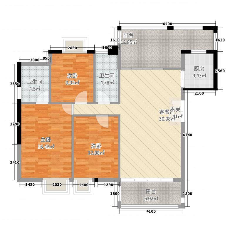 玉田府125.50㎡惠州户型