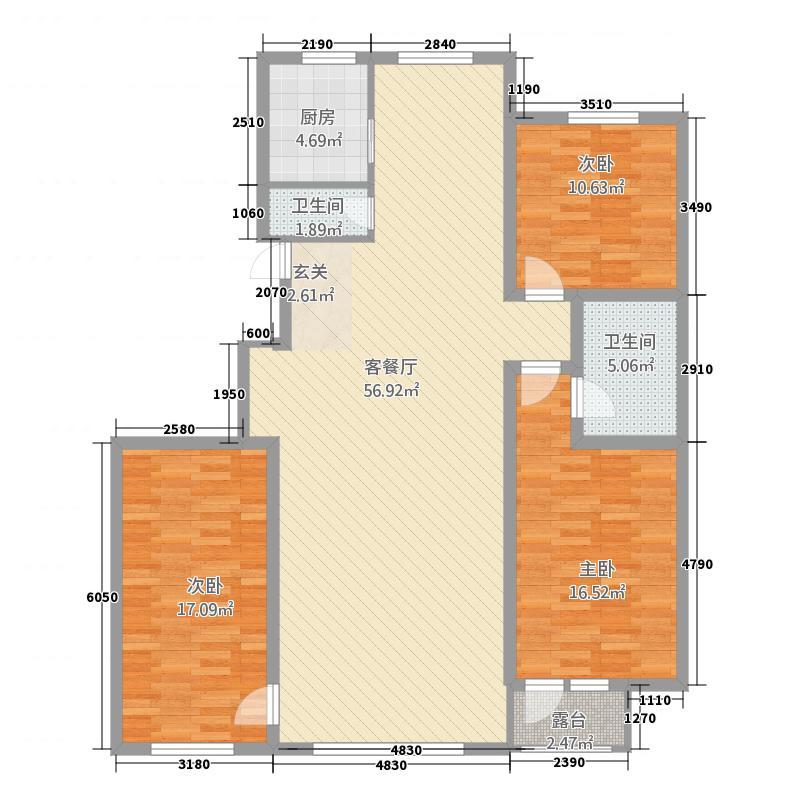 三室两厅两卫一厨142.03平户型.png